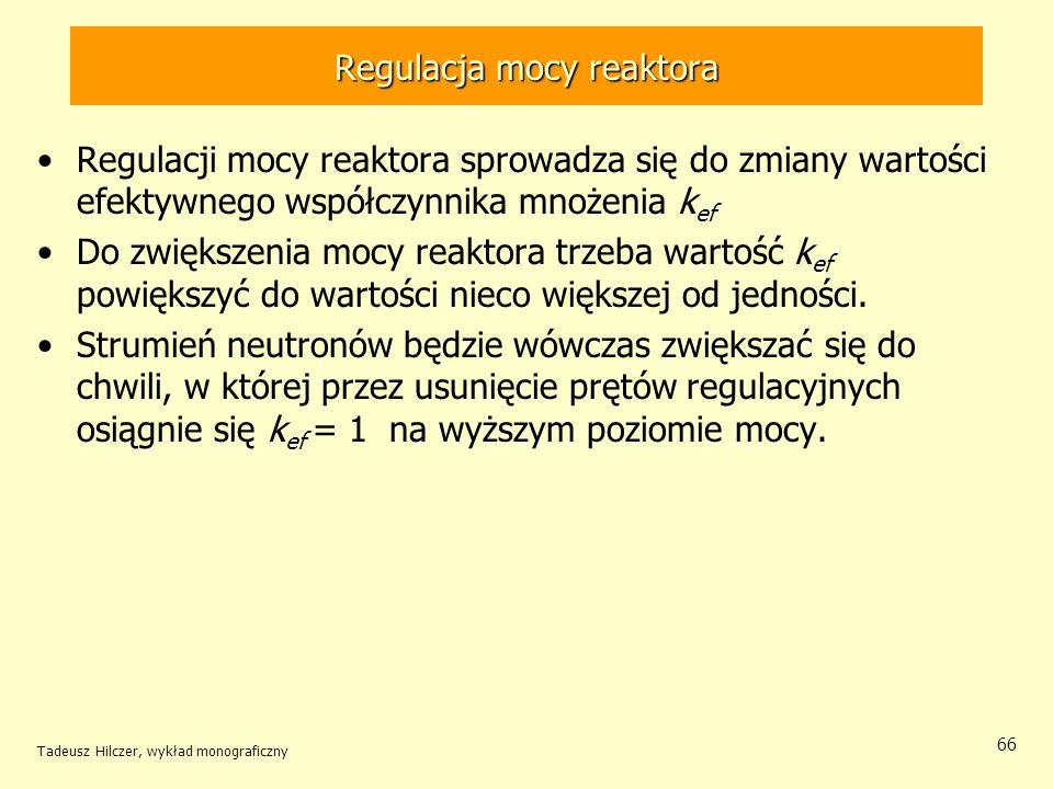 Regulacja mocy reaktora
