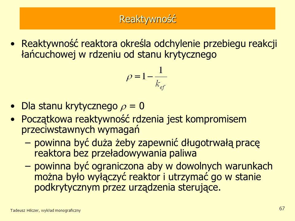 Dla stanu krytycznego r = 0