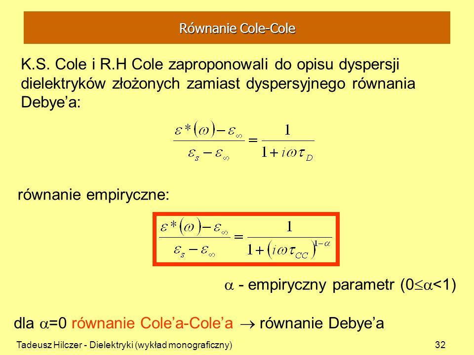 - empiryczny parametr (0<1)