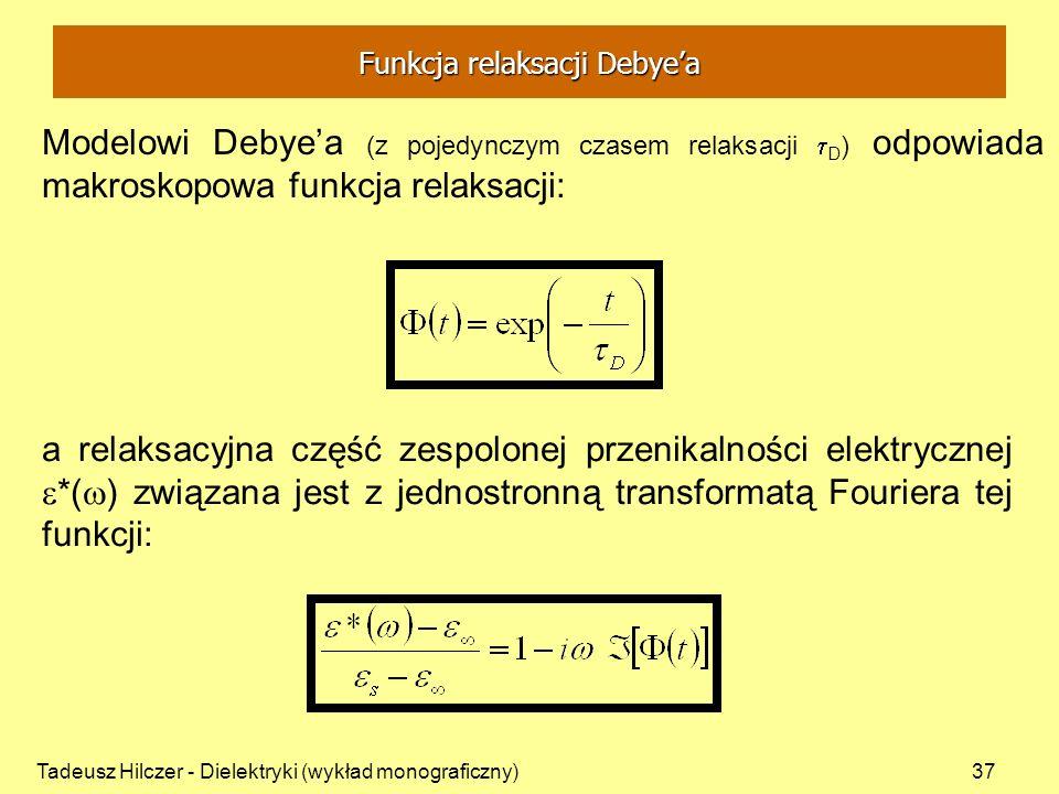 Funkcja relaksacji Debye'a