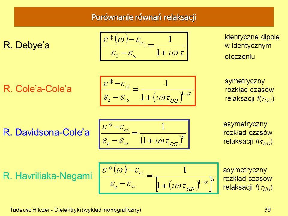 Porównanie równań relaksacji