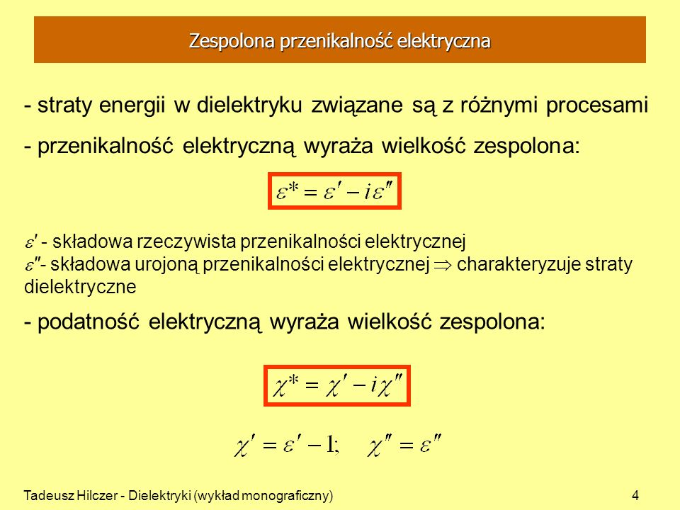Zespolona przenikalność elektryczna