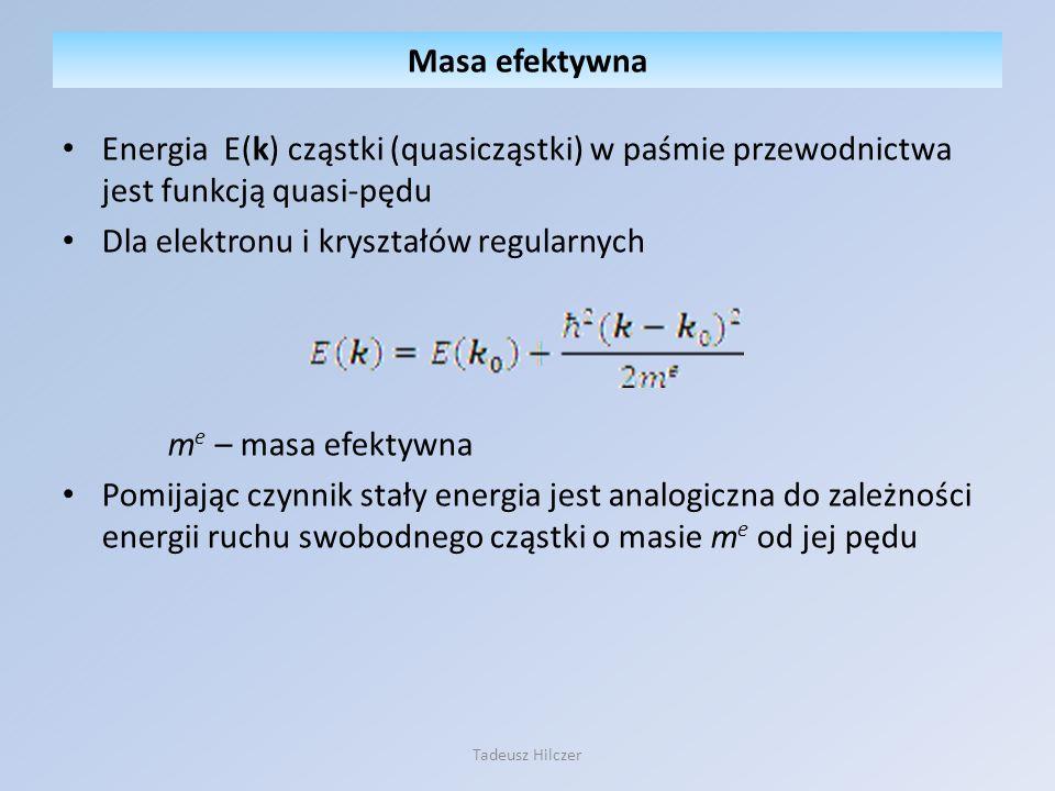 Dla elektronu i kryształów regularnych