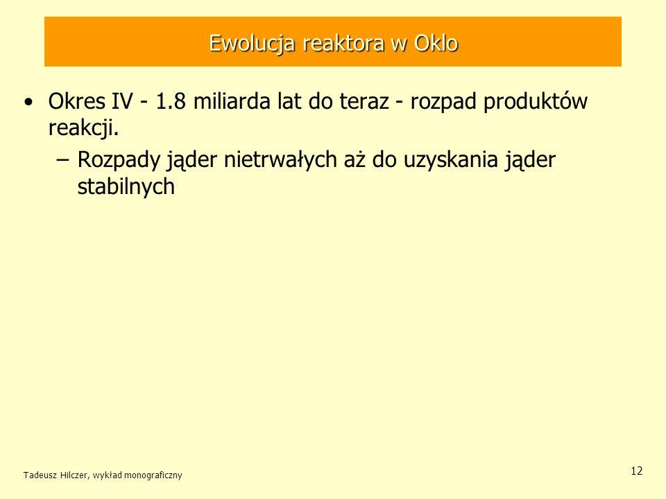 Ewolucja reaktora w Oklo