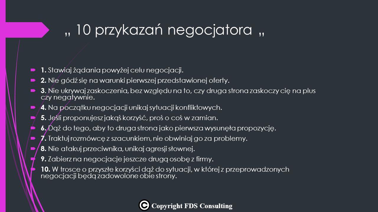 """"""" 10 przykazań negocjatora """""""