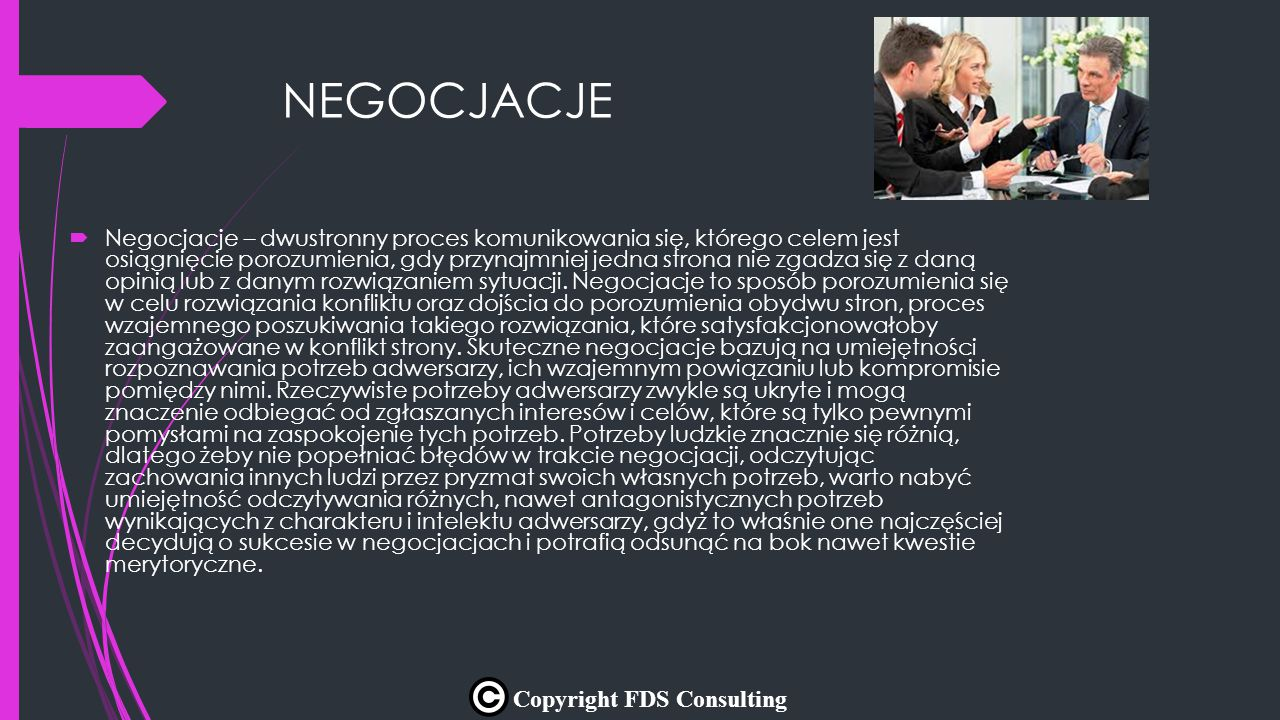 NEGOCJACJE Copyright FDS Consulting