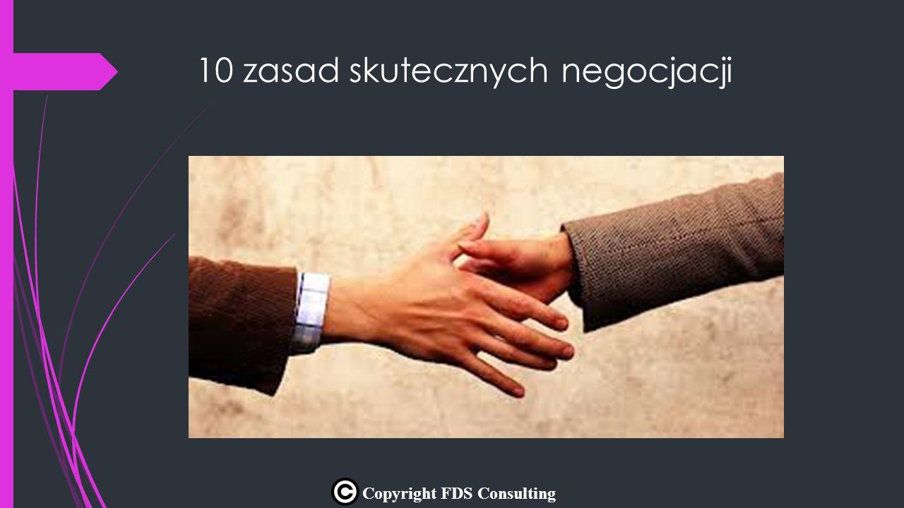 10 zasad skutecznych negocjacji