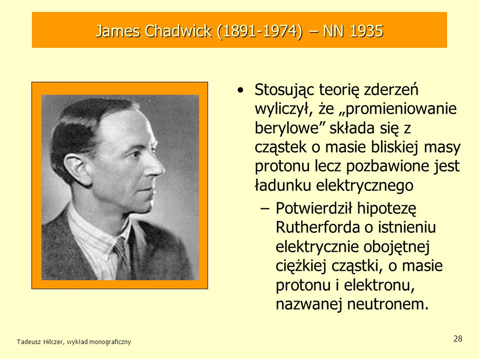 James Chadwick (1891-1974) – NN 1935