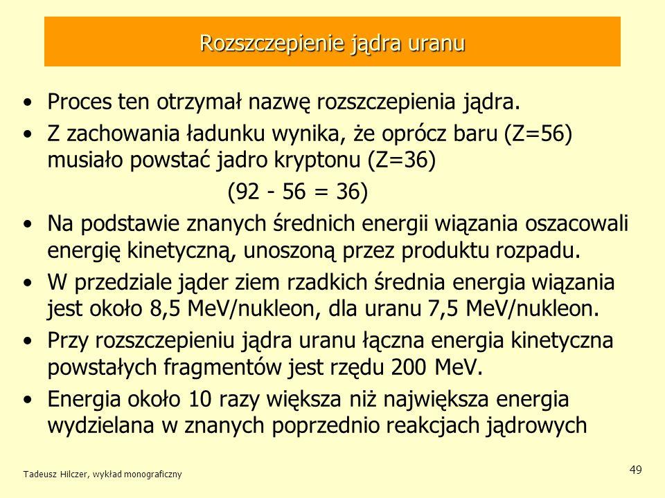Rozszczepienie jądra uranu
