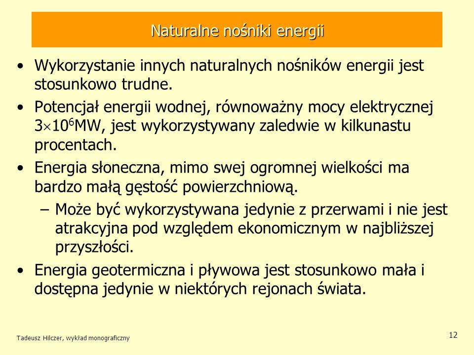 Naturalne nośniki energii