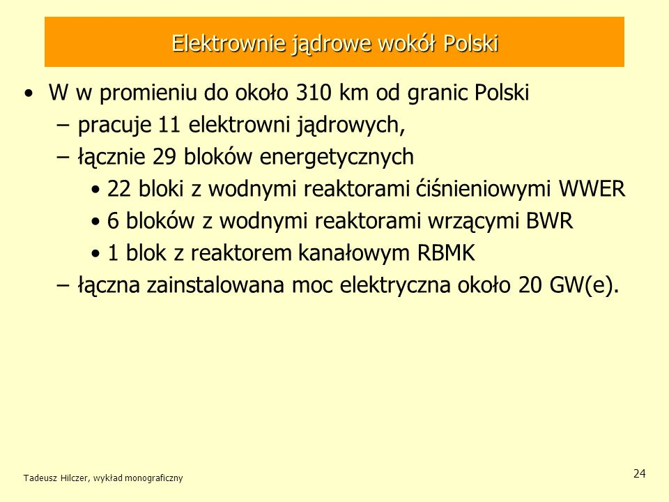 Elektrownie jądrowe wokół Polski