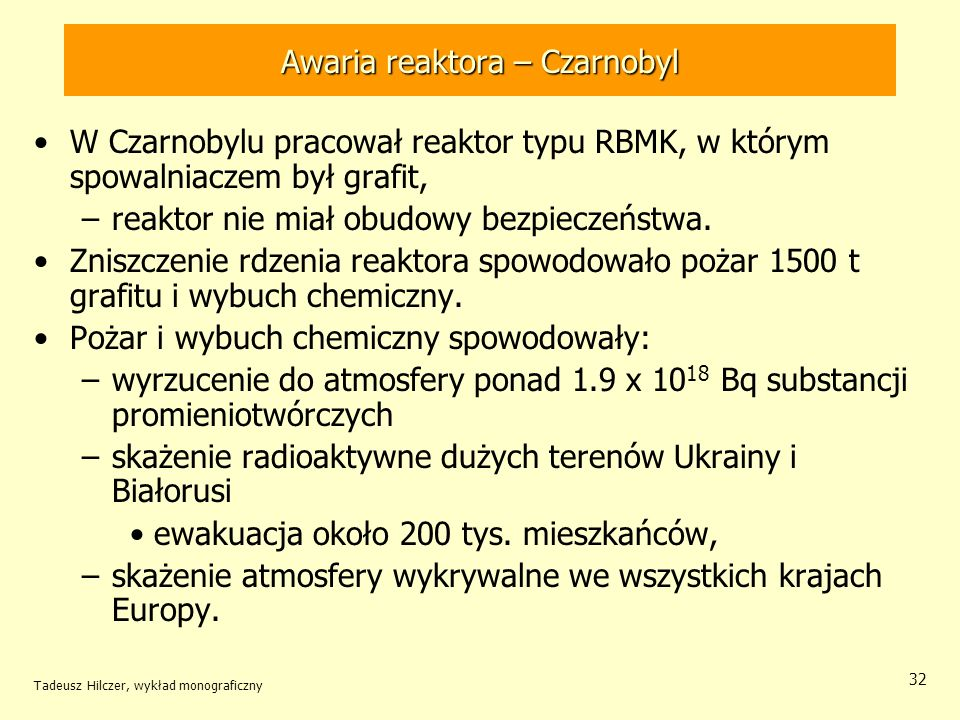 Awaria reaktora – Czarnobyl