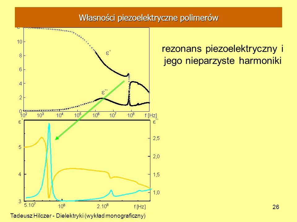 rezonans piezoelektryczny i jego nieparzyste harmoniki