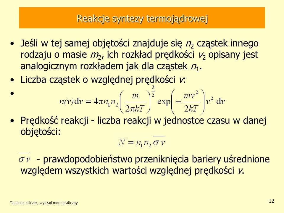 Reakcje syntezy termojądrowej