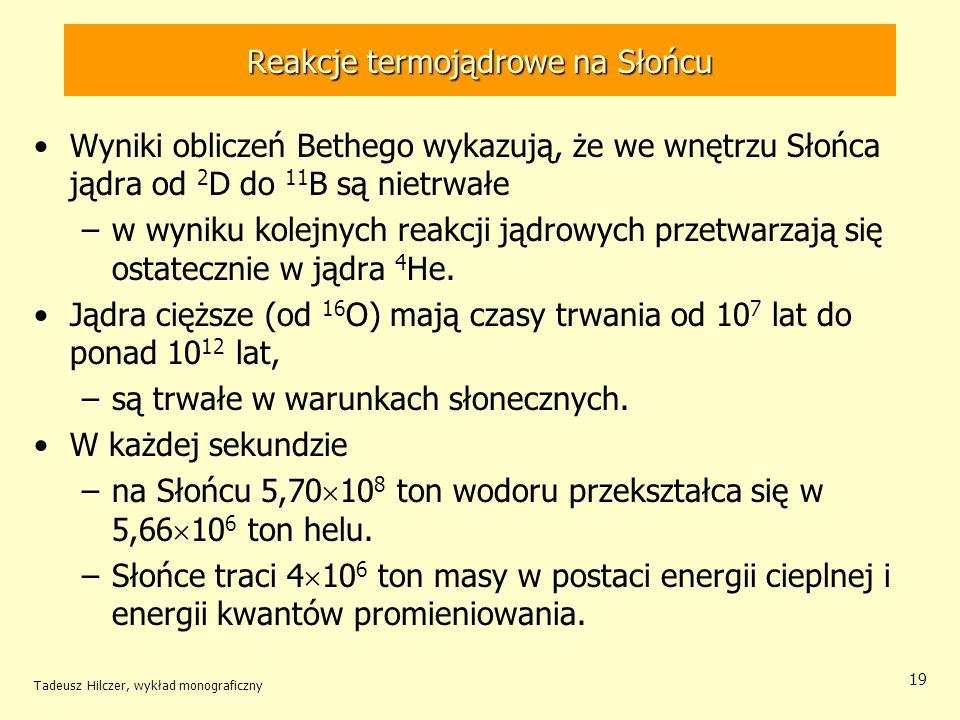Reakcje termojądrowe na Słońcu