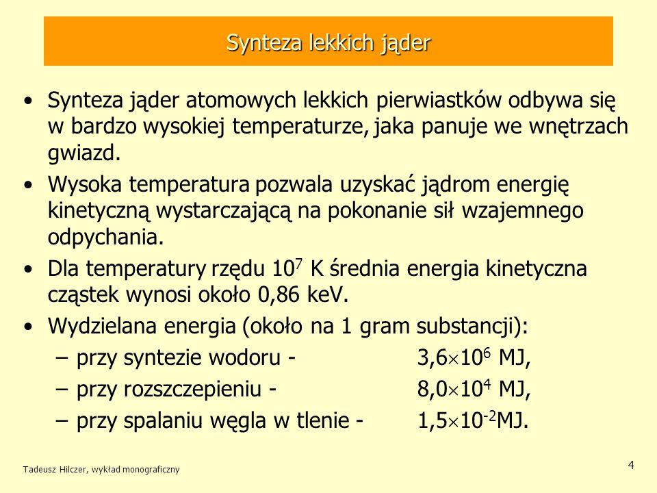Wydzielana energia (około na 1 gram substancji):