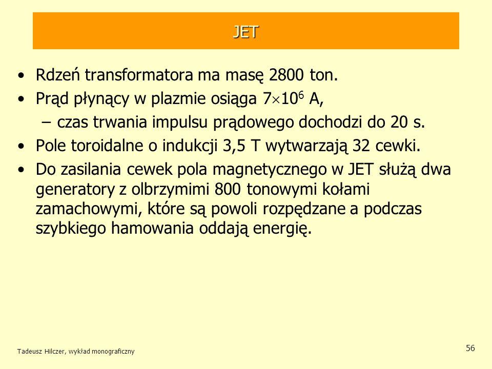 Rdzeń transformatora ma masę 2800 ton.