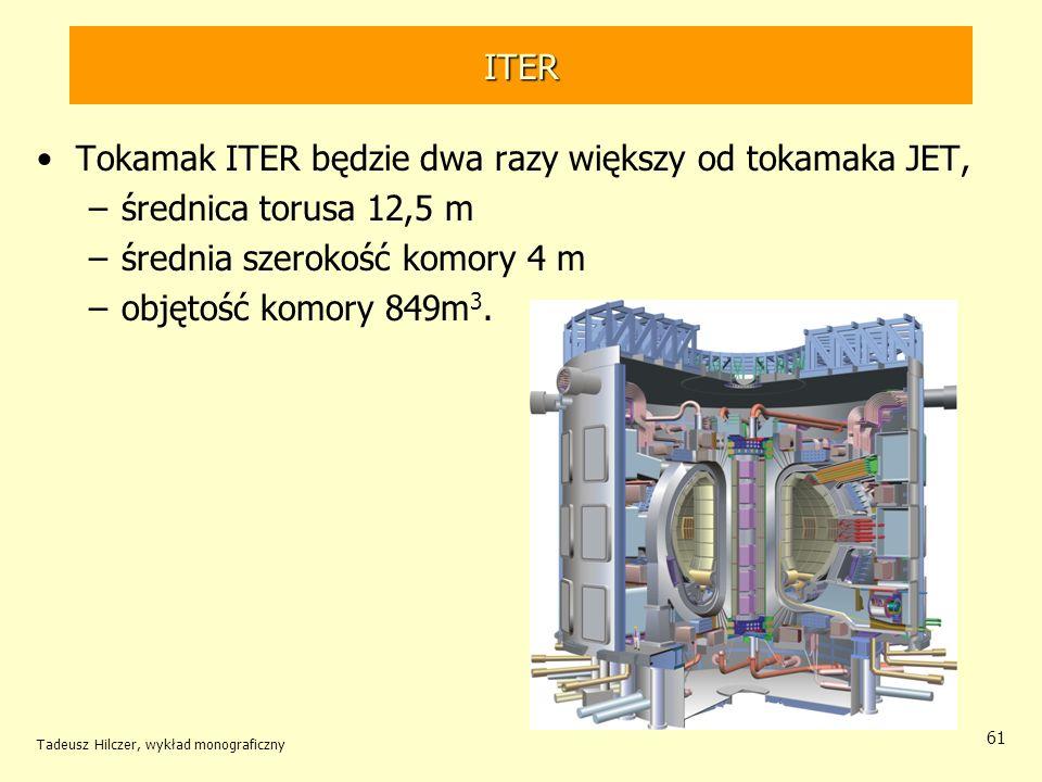 Tokamak ITER będzie dwa razy większy od tokamaka JET,
