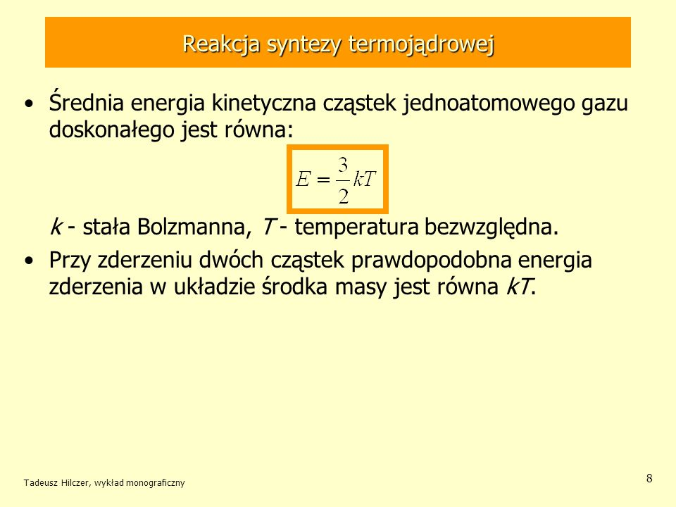 Reakcja syntezy termojądrowej