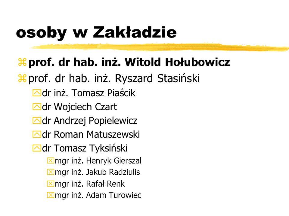 osoby w Zakładzie prof. dr hab. inż. Witold Hołubowicz