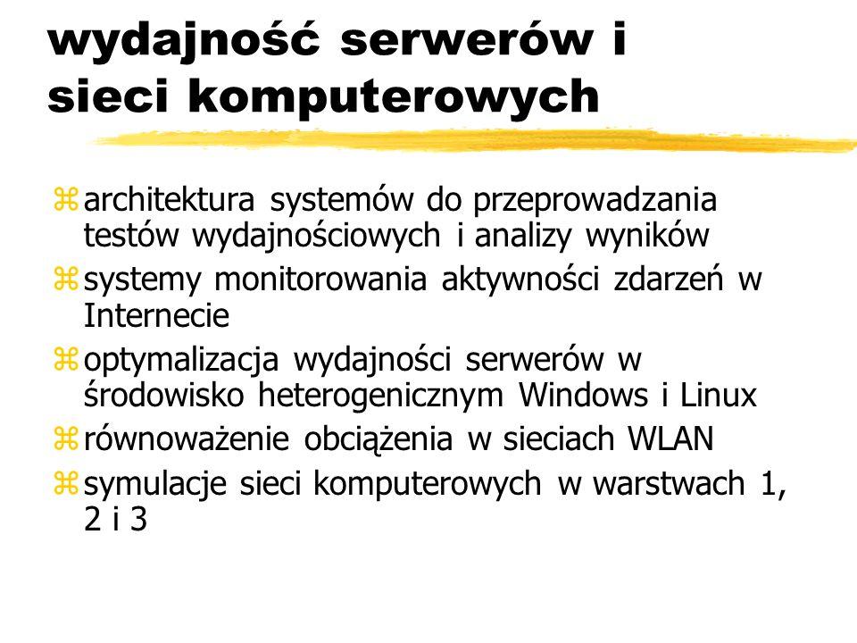 wydajność serwerów i sieci komputerowych