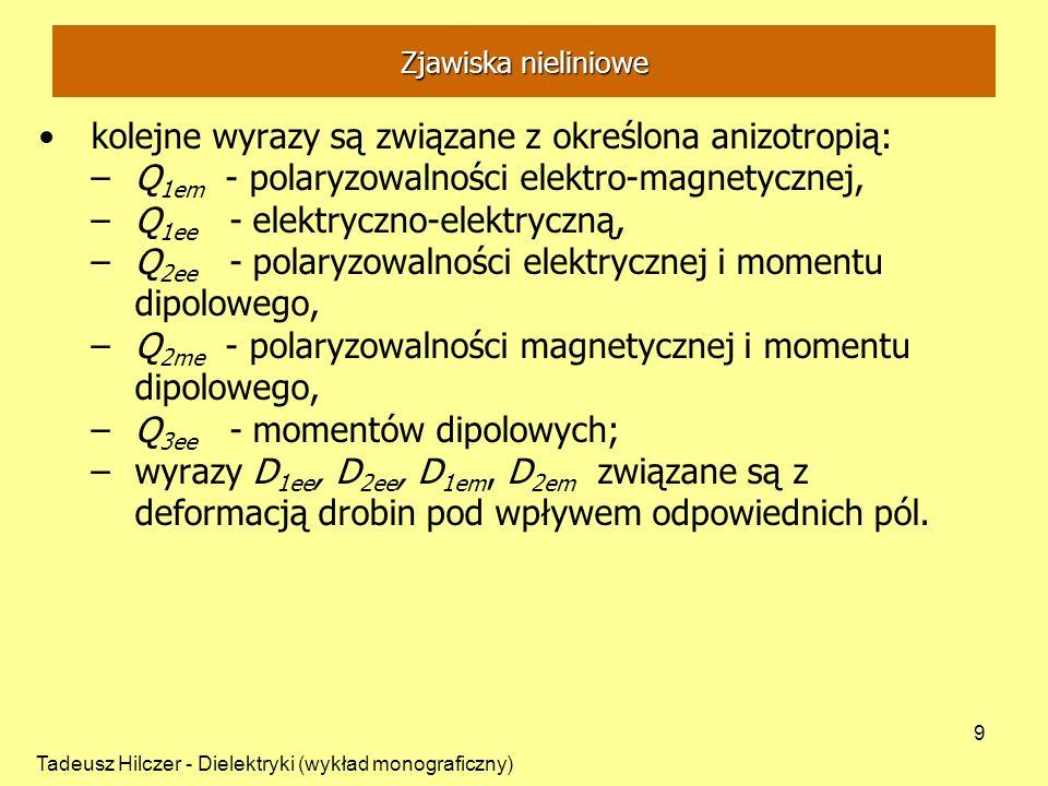 kolejne wyrazy są związane z określona anizotropią: