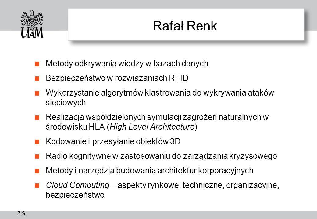 Rafał Renk Metody odkrywania wiedzy w bazach danych