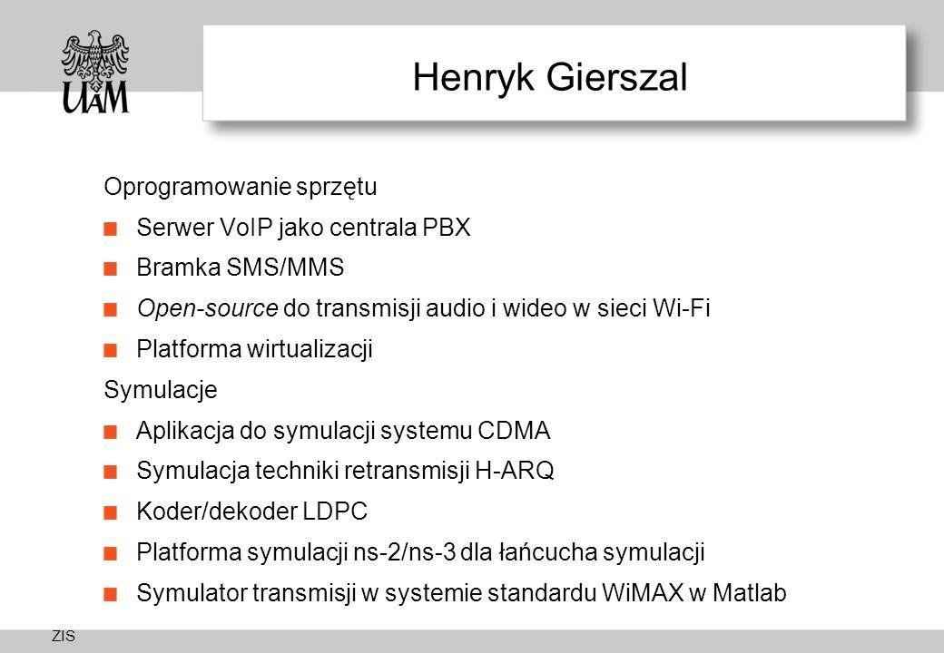 Henryk Gierszal Oprogramowanie sprzętu Serwer VoIP jako centrala PBX