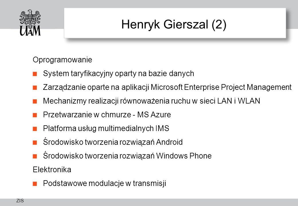 Henryk Gierszal (2) Oprogramowanie