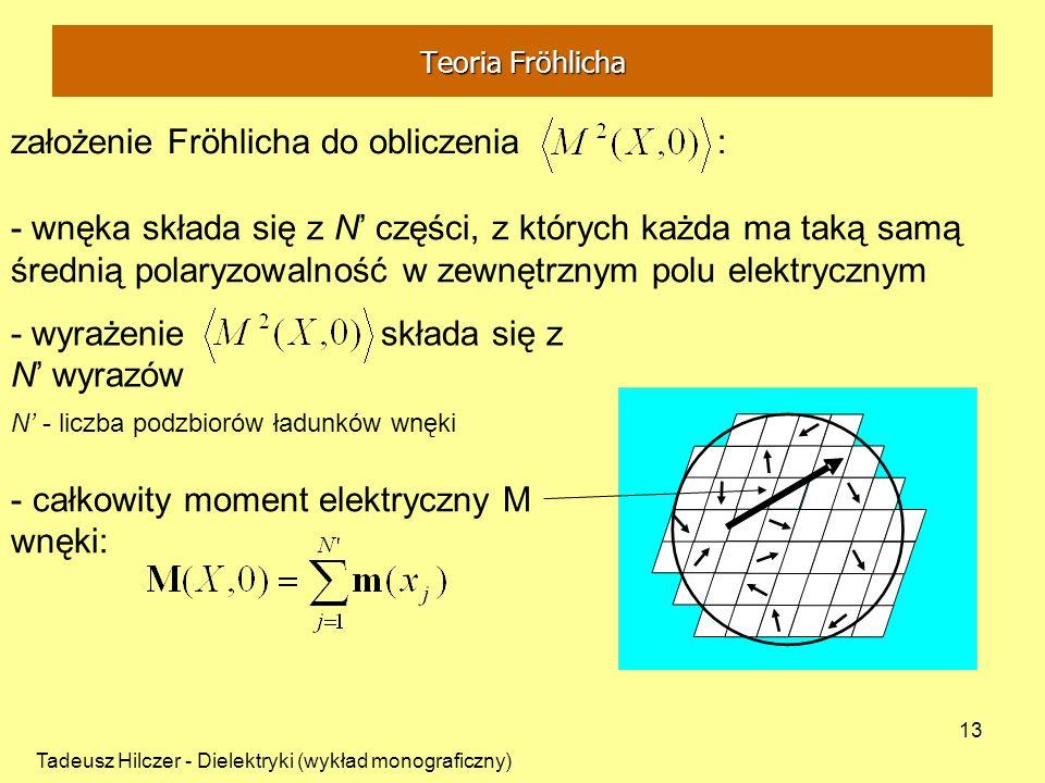 założenie Fröhlicha do obliczenia :