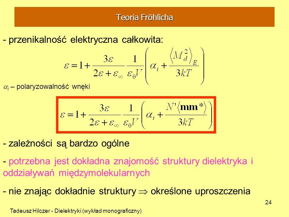 - przenikalność elektryczna całkowita: