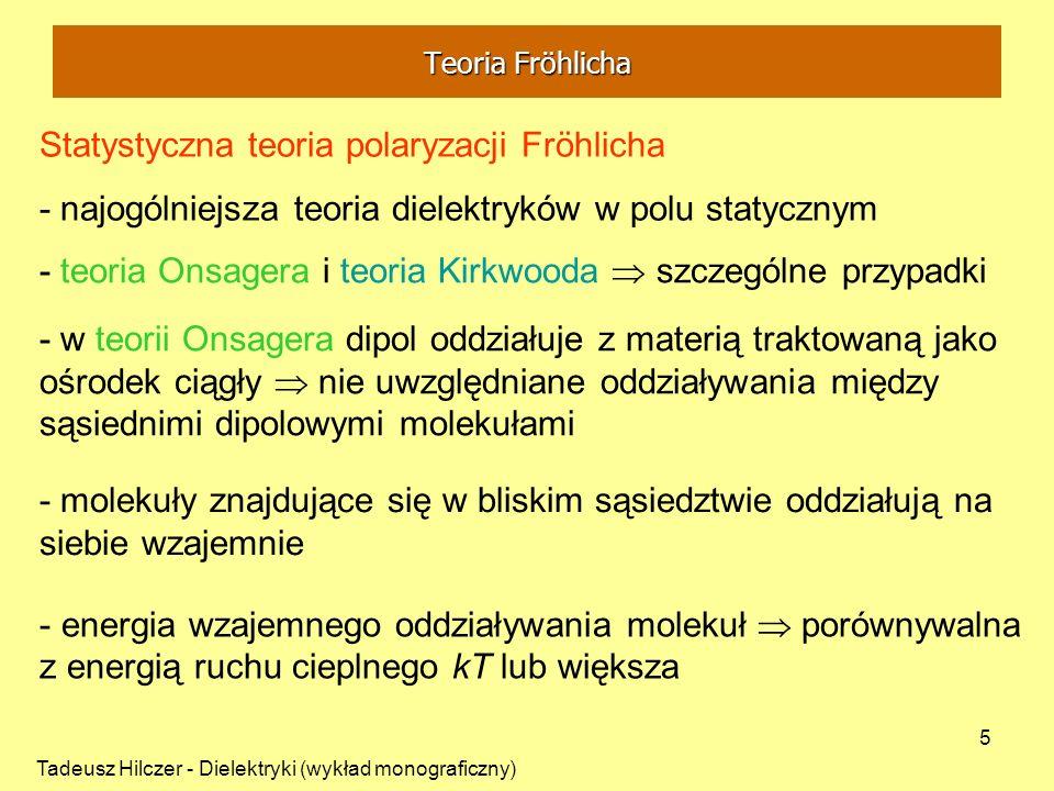 Statystyczna teoria polaryzacji Fröhlicha