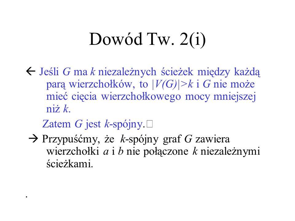 Dowód Tw. 2(i)