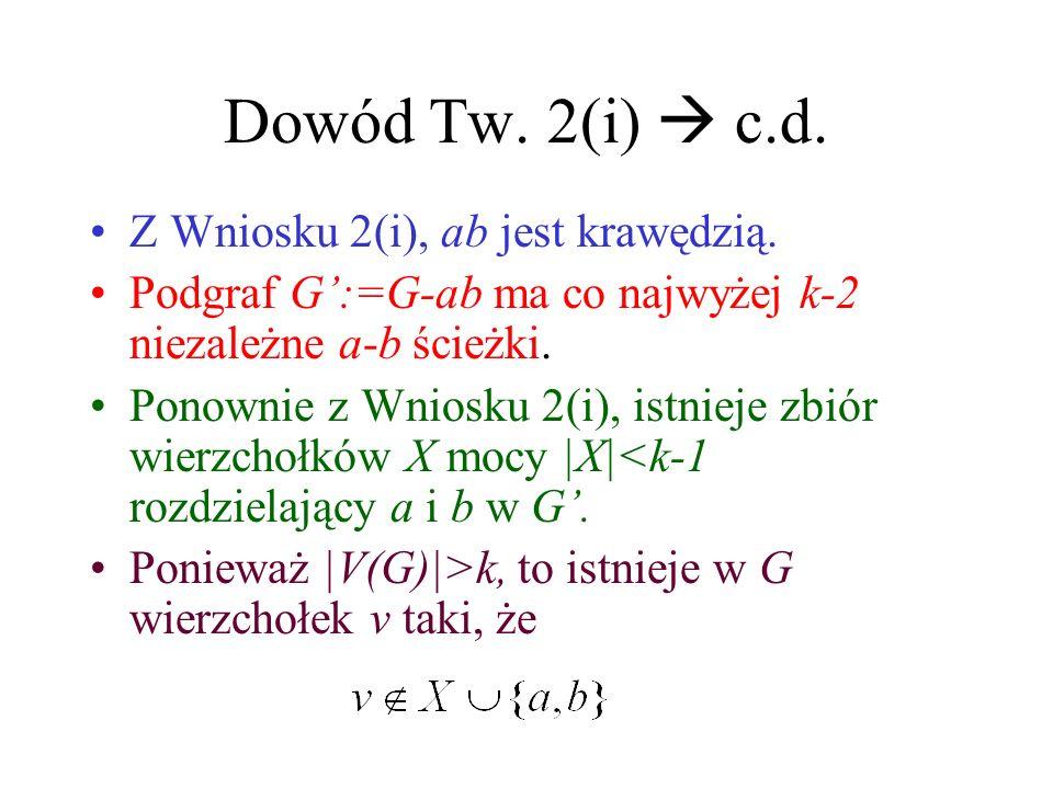 Dowód Tw. 2(i)  c.d. Z Wniosku 2(i), ab jest krawędzią.