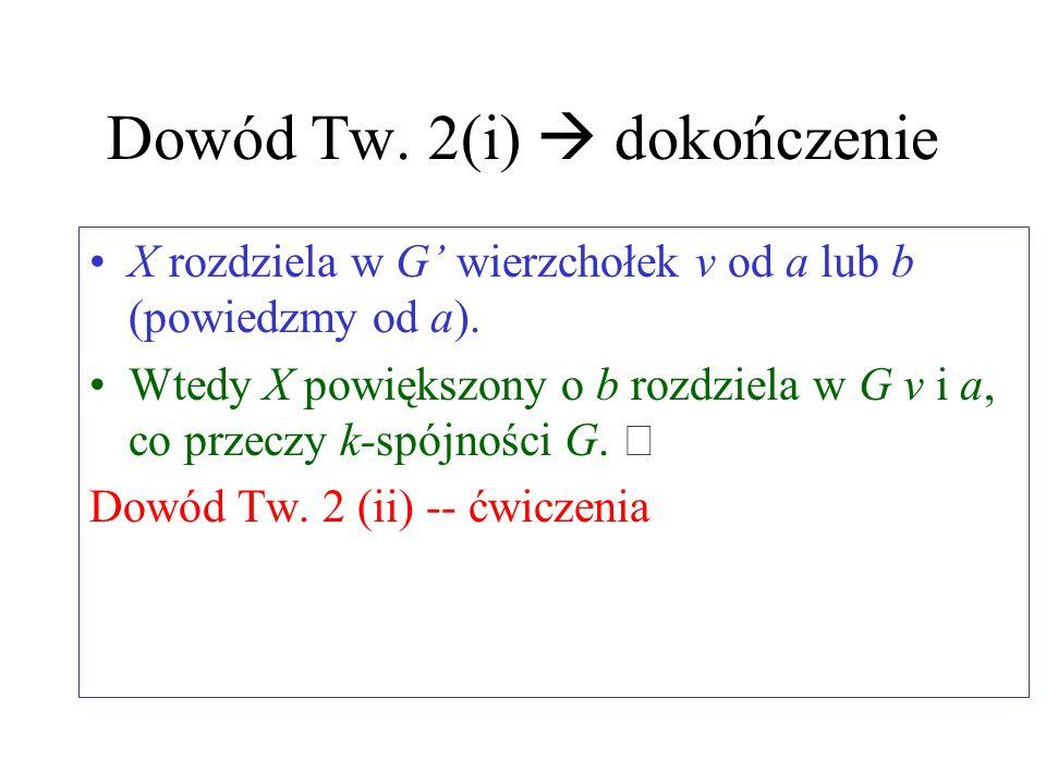 Dowód Tw. 2(i)  dokończenie