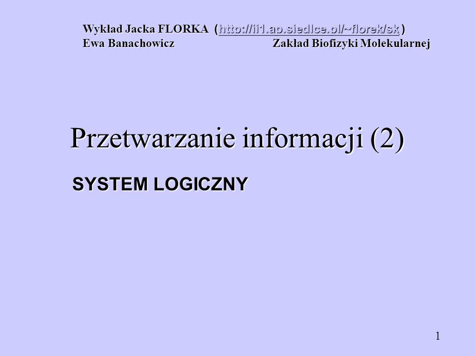 Przetwarzanie informacji (2)