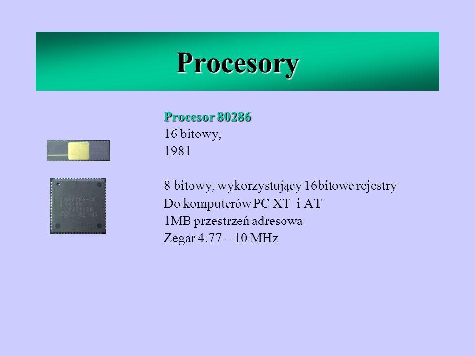 Procesory Procesor 80286 16 bitowy, 1981