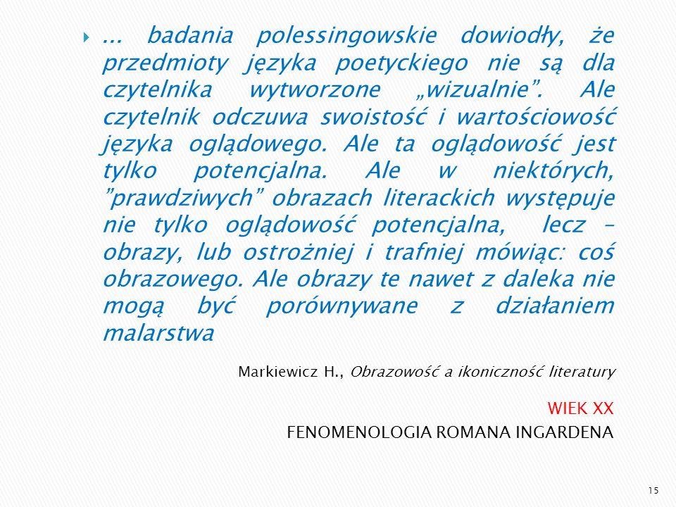 Markiewicz H., Obrazowość a ikoniczność literatury
