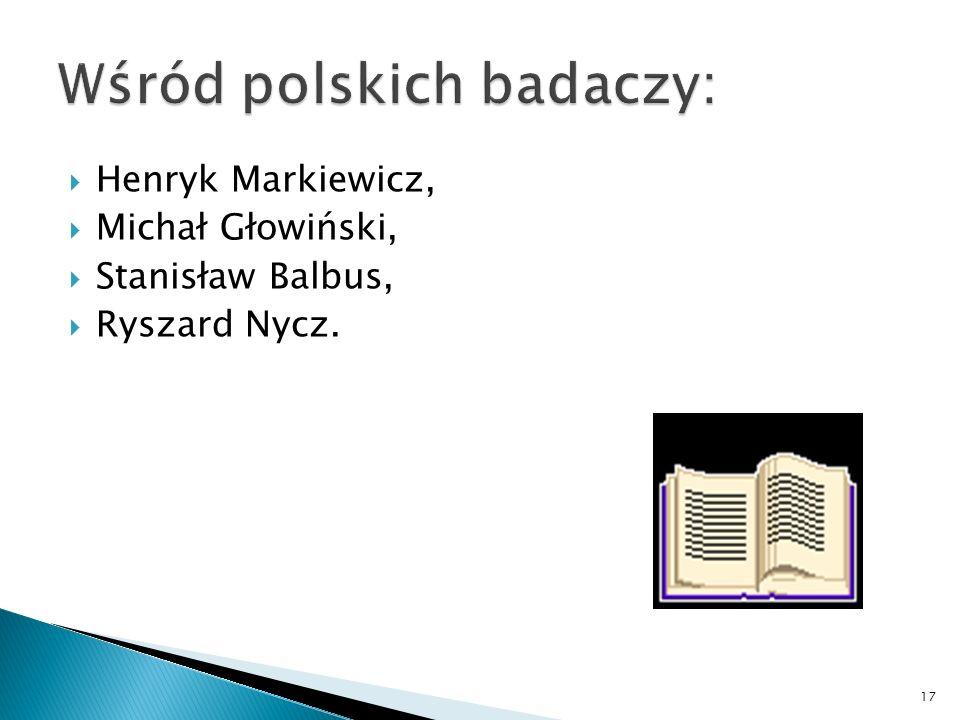 Wśród polskich badaczy: