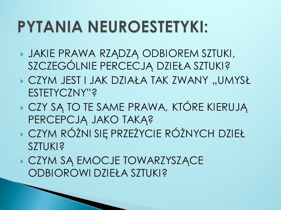 PYTANIA NEUROESTETYKI: