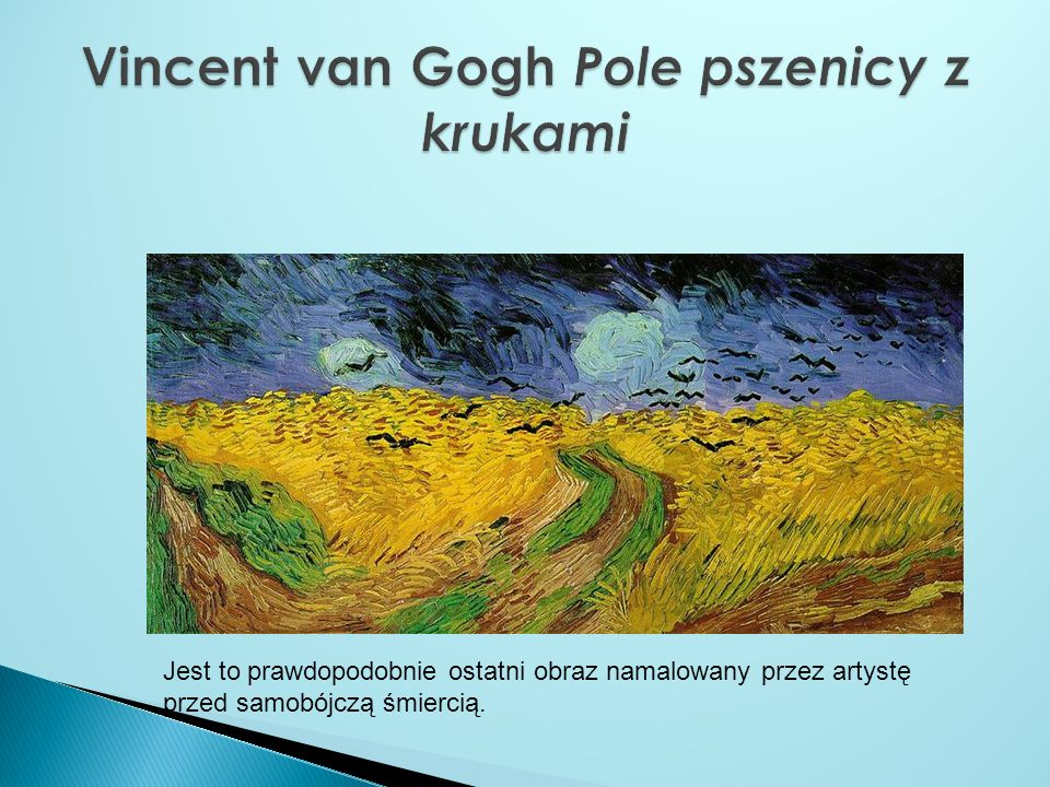Vincent van Gogh Pole pszenicy z krukami