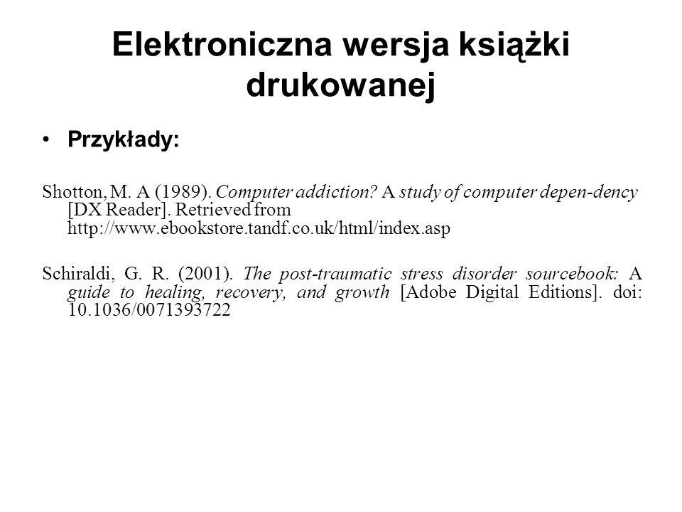 Elektroniczna wersja książki drukowanej