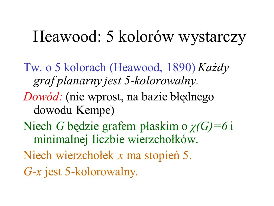 Heawood: 5 kolorów wystarczy