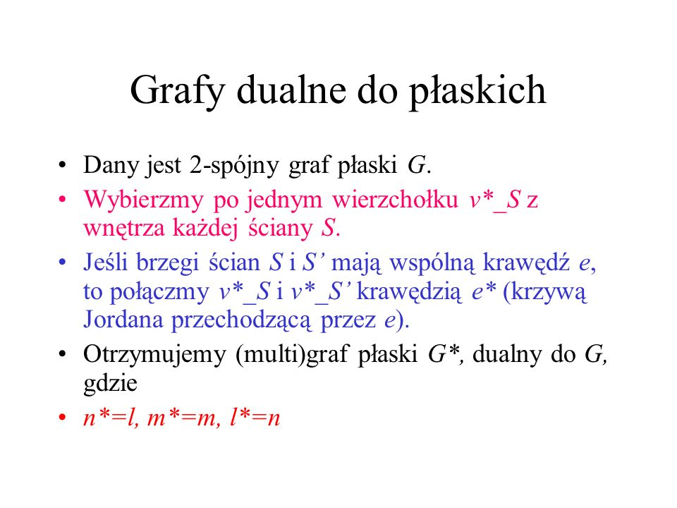 Grafy dualne do płaskich