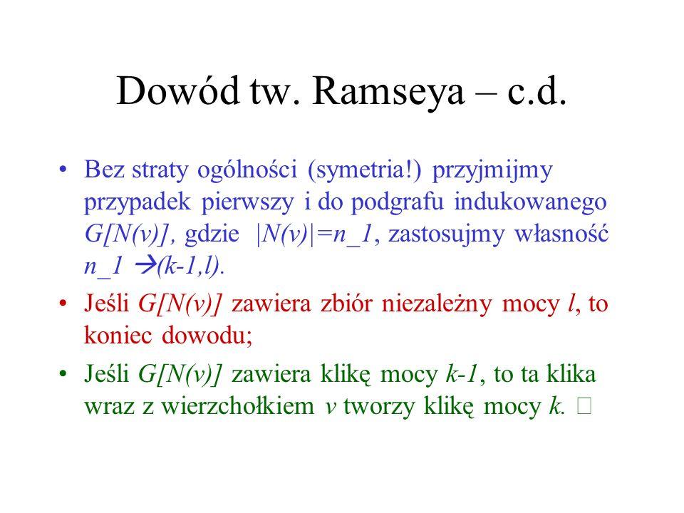 Dowód tw. Ramseya – c.d.