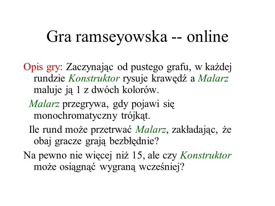 Gra ramseyowska -- online