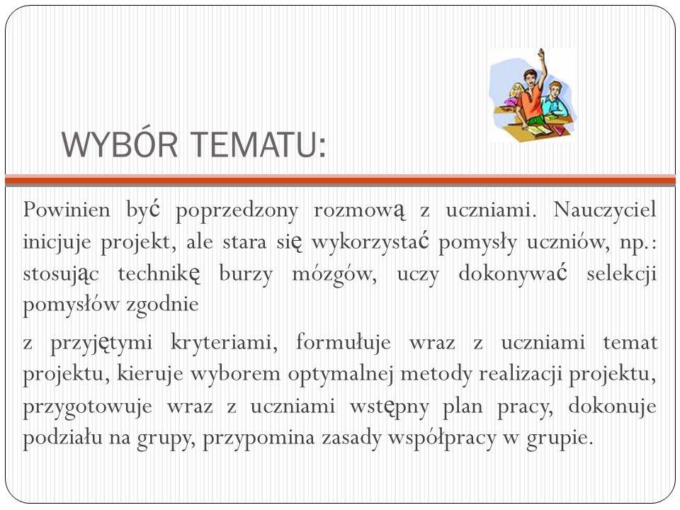 WYBÓR TEMATU: