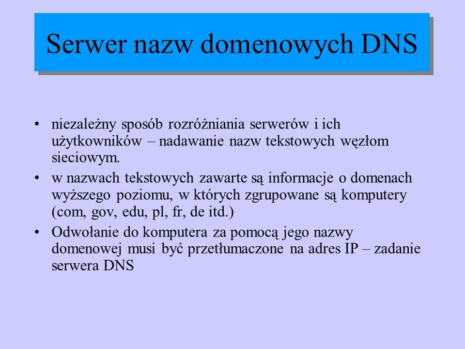 Serwer nazw domenowych DNS
