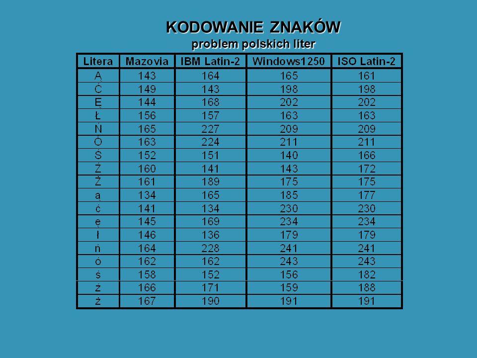 problem polskich liter