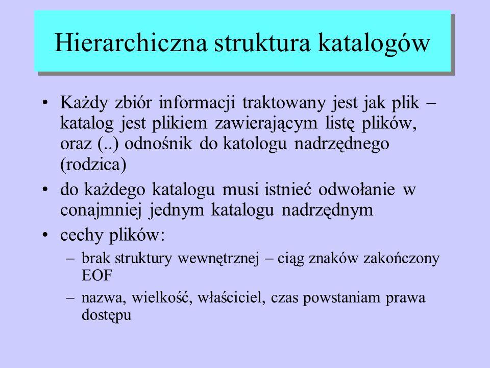 Hierarchiczna struktura katalogów